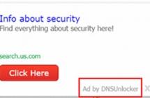 DNS Unlocker: что это и как удалить рекламу Ads by DNSUnlocker 1.4